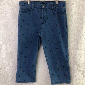 NYDJ Capri denim pants sz 12 with star print